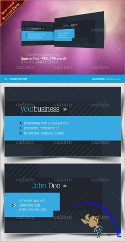 Seextwood Technix business card - GraphicRiver
