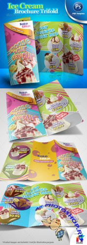 GraphicRiver - Ice Cream Brochure Trifold PSD Template