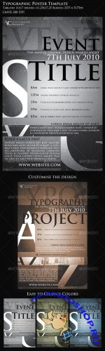 GraphicRiver - Typographic Poster Template
