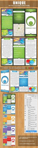 GraphicRiver - Unique Tri-fold Brochure