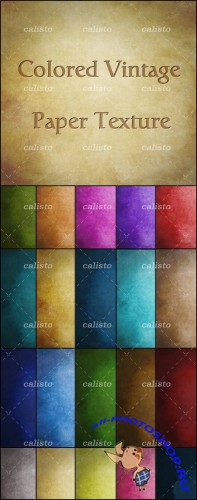 GraphicRiver - Colored Vintage Paper Textures Pack