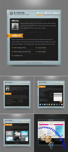 GraphicRiver - Slick Elegant vCard PSD Template Pack