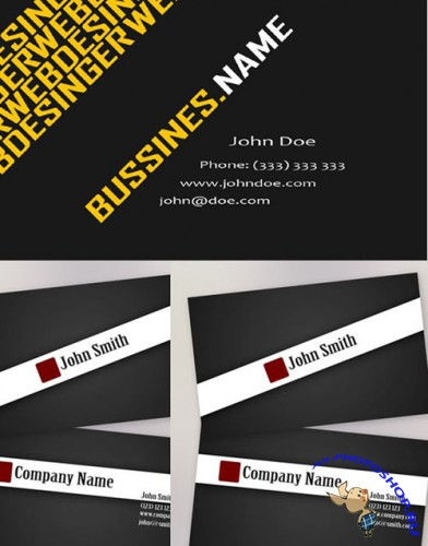 PSD Template - Black Business Card Templates
