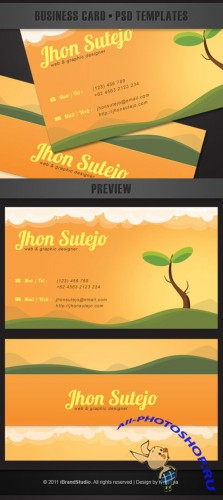 Beautiful nature business card template