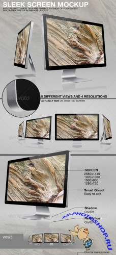 GraphicRiver - Sleek Screen Mockup