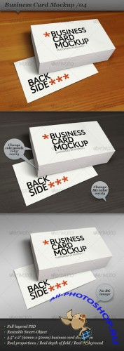 GraphicRiver - Business Card Mock-up Smart Template Pack