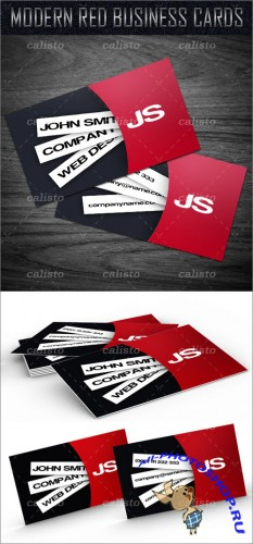 Modern Red Business Card - GraphicRiver