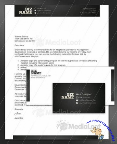 MediaLoot - Flashy Corporate Identity Pack