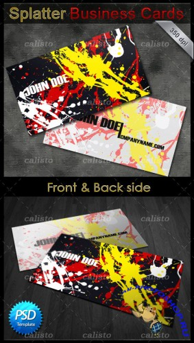 Splatter Business Cards - GraphicRiver
