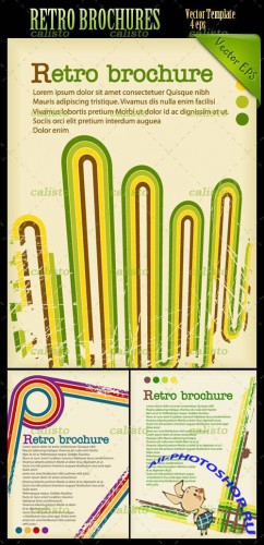 Retro Brochures Vector Pack