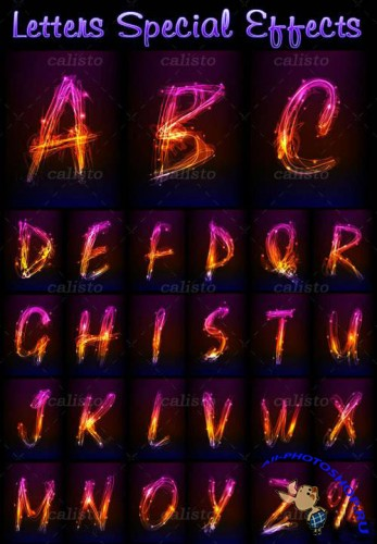 Letters Brilliant Special Effects Vector Pack