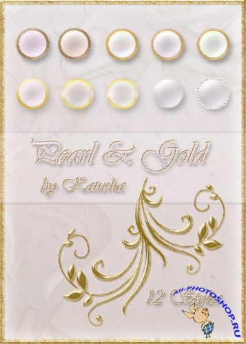 Pearl and Gold Styles for Photoshop