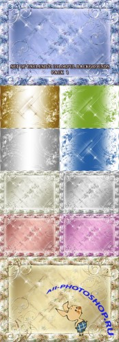 Set of Exclusive Colorful Backgrounds Pack 1