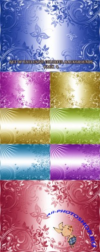Set of Exclusive Colorful Backgrounds Pack 4