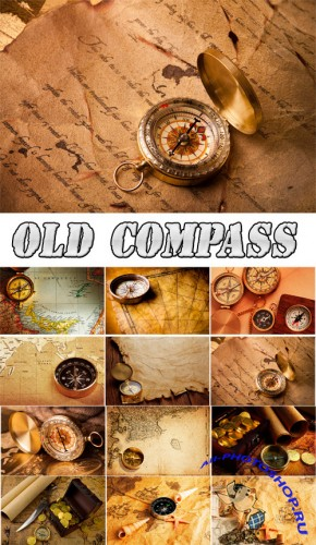 Old Map and Compass Backgrounds Collection