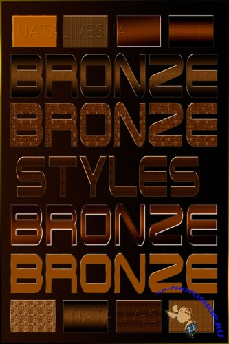 Bronze styles for a photoshop