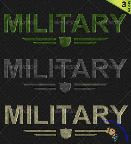 GraphicRiver - 3 Military Camouflage Styles