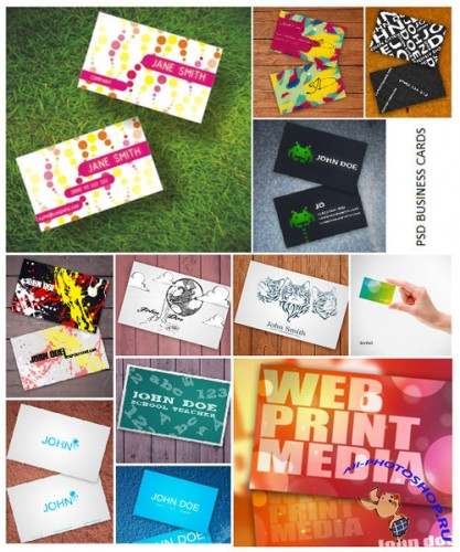 Photoshop Business Cards Templates Pack