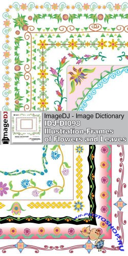 ImageDJ - DI098 Illustration - Frames of Flowers and Leaves