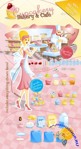 GraphicRiver - Cupcakery Bakery and Cafe
