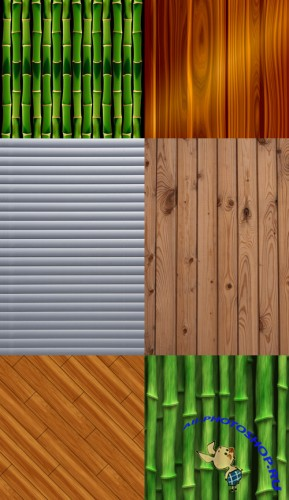 Bamboo set of textures
