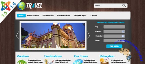 VTEM Travel Template - Joomla 1.5 & 1.6
