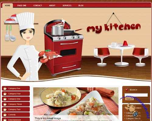 Free Wordpress Theme - My Kitchen