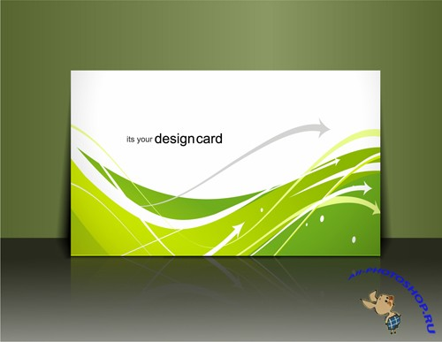 Very Nice Vector Green Business Card Templates