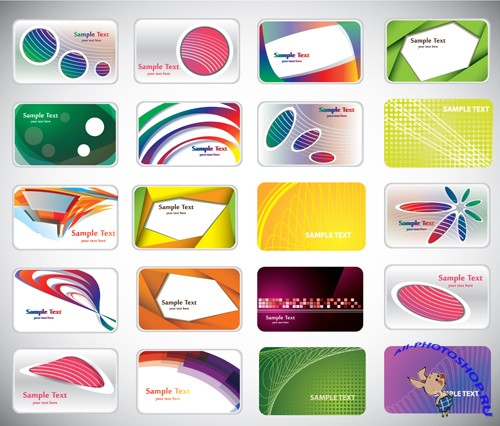 Colorful Variety Of Trendy Business Card
