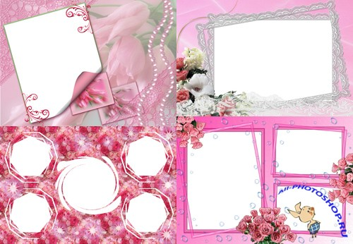 Photo Frame - Pink Flowers