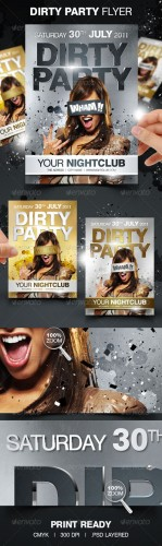 GraphicRiver - Dirty Party Flyer