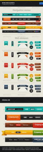 GraphicRiver - Retro Web Elements