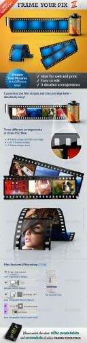 GraphicRiver - Frame Your Pictures II - Film Stripes
