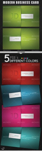 GraphicRiver - Modern Style Business Card - 5 Different Colors