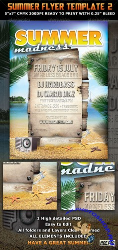 GraphicRiver - Summer Madness Party Flyer Template