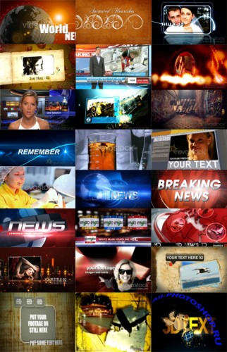 Videohive and RevoStock AE Projects GIGAPACK 1