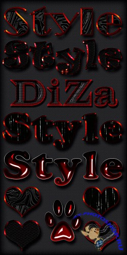 Black & red styles