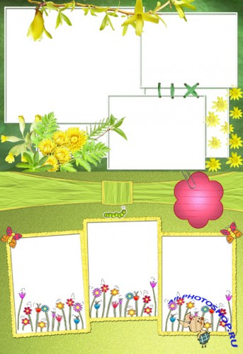 Photo Frame - Yellow spring flowers