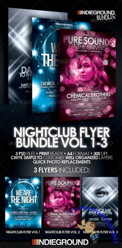 Graphicriver - Nightclub Flyer Bundle