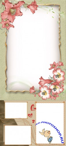 Photo Frame - Garden flowers