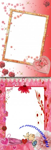 Photo Frame - Red flowers