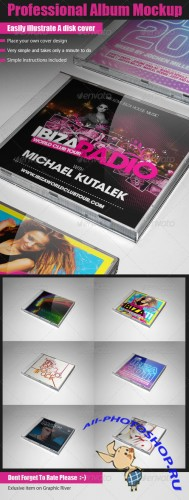 GraphicRiver - Professional Album Mockup
