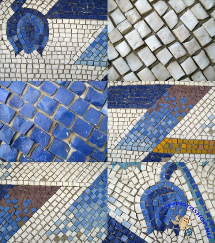 A set of mosaic textures