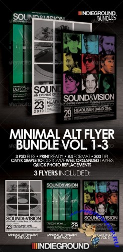 GraphicRiver - Minimal Alternative FlyerPoster Bundle 3VoL