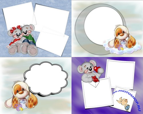 Photo Frame - Cute animals