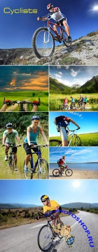 Stock Photo - Cyclists