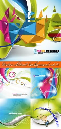 Vector abstract background set 61
