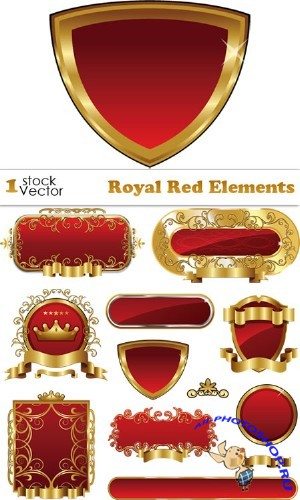 Royal Red Elements Vector