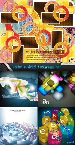 Vector abstract background set 62