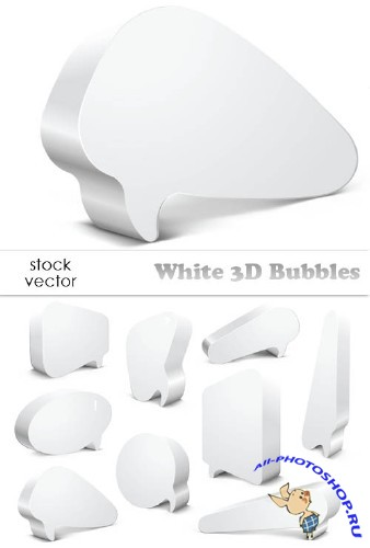 Vectors - White 3D Bubbles